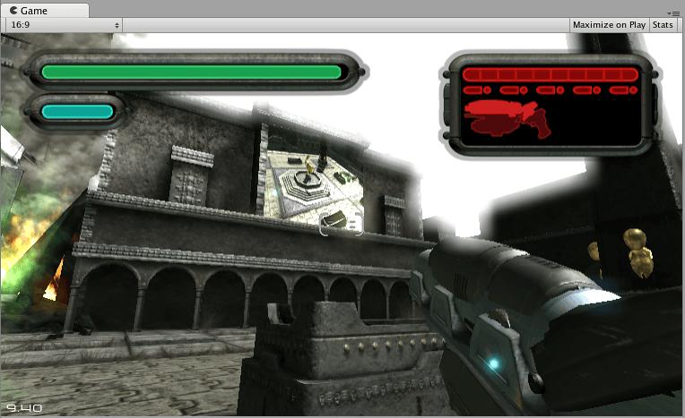 Une texture de rendu utilisée pour créer un Live Arena-Cam