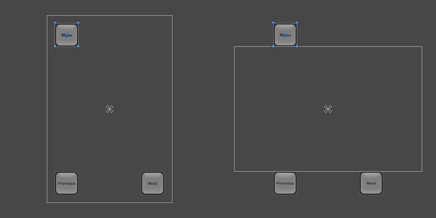Interface utilisateur sortant du cadre en mode paysage