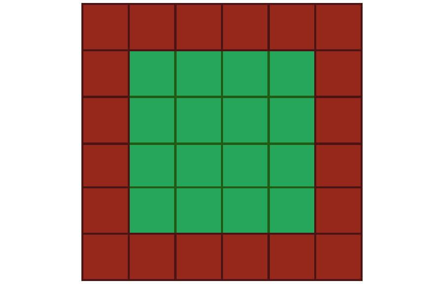 Un niveau simple, affiché dans une vue de haut en bas