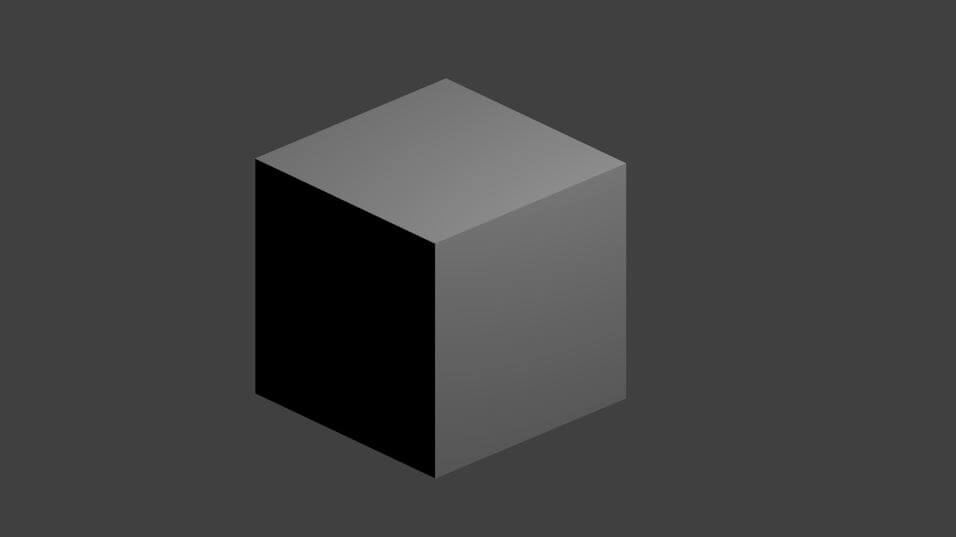 Cube rendu en perspective orthographique