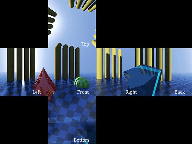 Les vidéos 2D de Cubemap doivent avoir un rapport d'aspect de 1: 6, 3: 4, 4: 3 ou 6: 1, en fonction de la disposition des layout