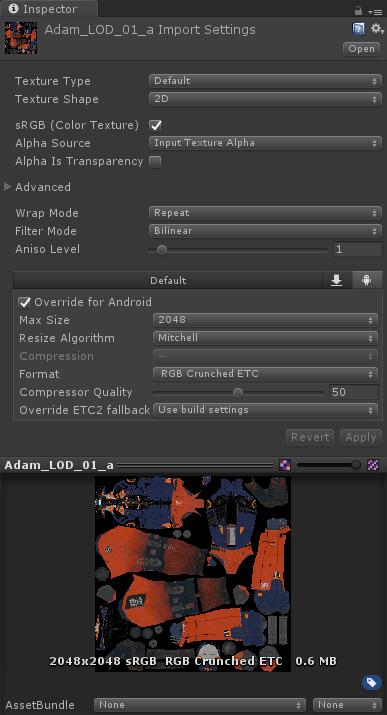 Activer la compression Crunch dans l'éditeur