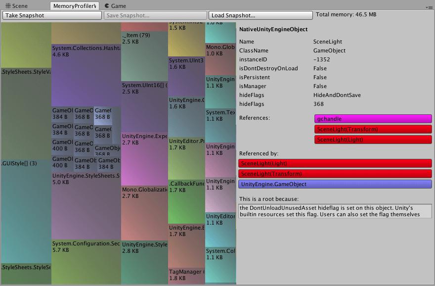 Memory Profiler à l'intérieur de l'éditeur