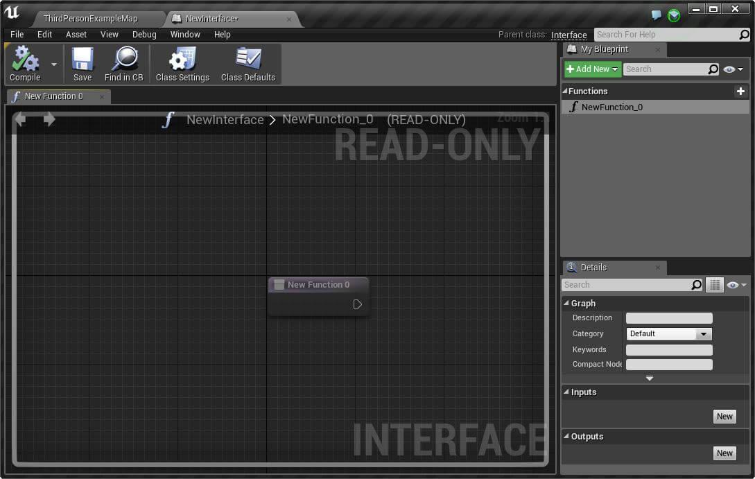 éditeur de blueprint pour les interfaces
