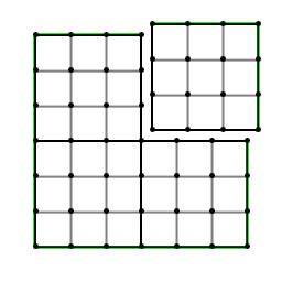Chaque section est composée de 9 (3x3) quads