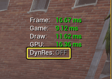 DynRes désactivé