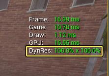 DynRes activé